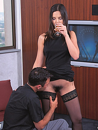 Eve Angel Sexy Teen Has her First Anal Experience in Casting pictures at dailyadult.info