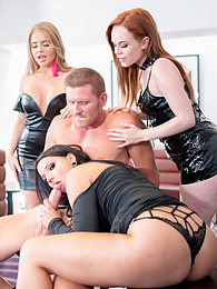 Hardcore Party Time with Three Cock Loving Horny Stars! pictures at freekiloclips.com