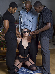3 Cocks for this Greedy Babe, then she Licks Cum from Floor pictures at freekilomovies.com