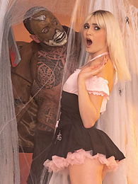 Hardcore Halloween Fuck with tattoos for lovely Blonde Teen pictures