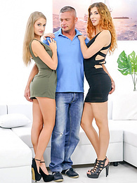 Shona River & newbie Tiffany Tatum in threesome with rimming pictures at freekiloporn.com