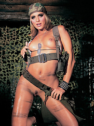 Clara Morgane Joins the Army and goes to war with her pussy pictures at find-best-mature.com