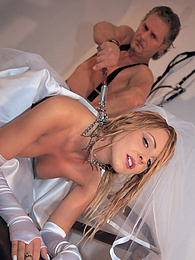 Sexy Bride Simona Sun chained up and fucked in all holes pictures at freekiloclips.com