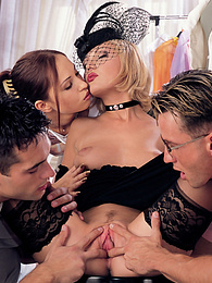 Nicole, the Black Widow & Alexa May have classy group sex pictures at freekiloclips.com