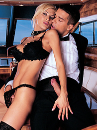 On board with Celia Blanco and a DP. Explosive threesome pictures at find-best-lingerie.com