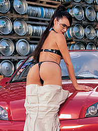 Malena Conde given a check up and fucked by her mechanic pictures at freekilosex.com