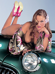 Natural Lucy Love gets DPd in her classic car like a lady pictures at find-best-babes.com