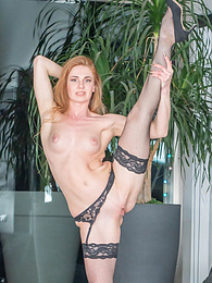Melissa Benz in stockings enjoys anal fucking in Barcelona pictures at freekilosex.com