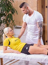 Big titted Blanche Bradburry receives a full anal massage pictures