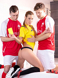 Alexis Crystal is a sexy referee addicted to sporty DPs pictures at kilomatures.com
