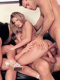 Vanda and Liz Honey covered in cum in scorching foursome pictures at kilogirls.com
