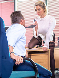 Sexy Sienna Day fucks her demanding boss hard in the office pictures