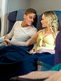 Mia Malkova, hot debut for Private by fucking on a plane pictures at freekilomovies.com