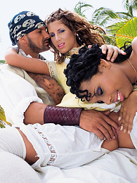 Pirates find a different kind of treasure at tropical island pictures at find-best-babes.com