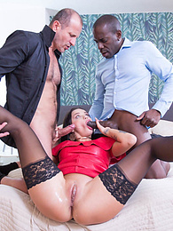 Hot Interracial threesome with anal, DP and two creampies pictures