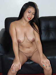 Big-tittied Filipina giggles when asked for sex from white tourist pictures at find-best-ass.com