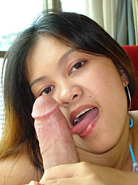 Seductive Filipina stunner takes load of cum on the chin pictures at freekilomovies.com