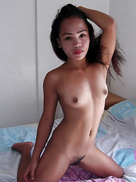 Lucky guy has two hot Filipinas spoiling his cock in threesome pictures