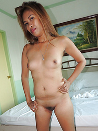 Horny Filipina chick with shoulder tat savors white cock pictures at find-best-pussy.com