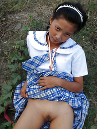 Filipina schoolgirl fucked outdoors in open field by tourist pictures at nastyadult.info