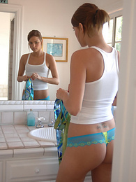Sexy teen is checking out her hot body in the mirror pictures at dailyadult.info