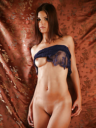 Brunette with a sexy athletic body pictures at find-best-lingerie.com