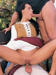 Hot blonde and sexy brunette enjoy groupsex at the winery pictures at freekiloclips.com