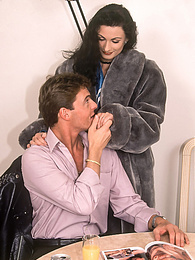 Glamour Hairy Pussy Bitch Myrtille gets DP in stockings pictures at kilovideos.com