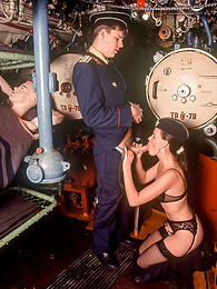 Glamour sex in russian submarine for slut in black lingerie pictures