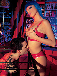 Tattooed guy and her toy addict fetish latex slut have sex pictures at reflexxx.net