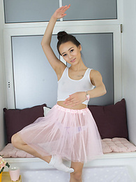 Amazingly sexy and beautiful brunette teen decides to strip down her cute pink skirt and white top and pose naked. pictures at freekilomovies.com