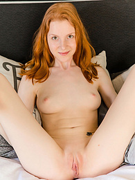 Check out this astonishing redhead girl who decided to tease fully naked and have some fun in her red dress. pictures