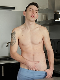 Sexy James Huck fingers his ass and strokes his cock pictures at find-best-pussy.com