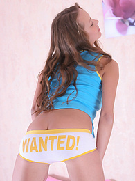 Brunette look so cute in her little white panties pictures at freekiloporn.com