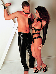 Fetish Brunette Brianna Lane Loves Handcuffsand and Cum pictures at freekilomovies.com