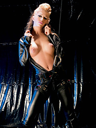 Blonde Slut Sonia Baby is Analized and Facialized in Leather pictures