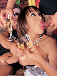 Katsuni's Birthday Party is an Orgy with DP and a Facial pictures