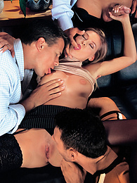 Victoria Swinger Puts Her Dirty Charme to Work and Gets a DP pictures at freekilomovies.com