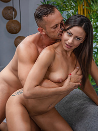 Gorgeous brunette Cassie Del Isla bounces on hig big hard cock pictures at freekiloclips.com