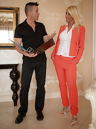 Busty mature babe Tiffany Rousso fucks the real estate agent for a discount pictures at kilopics.net
