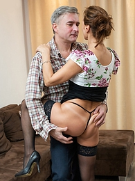 Mature amateur babe Drugaya gets fucked by older man pictures at find-best-panties.com