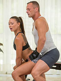 Athletic babe Cassie Del Isla gets fucked hard by her personal trainer pictures at freekilomovies.com