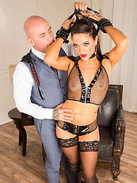 Brunette slut Victoria Voxxx has been a bad girl and is going to get punished pictures