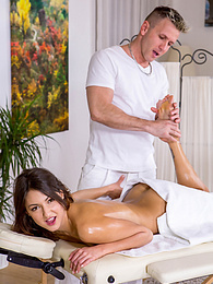 Suzy Rainbow is horny and wants a massage with a happy ending pictures at freekilomovies.com