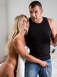Mature babe Caroline De Jaie takes his big cock in her asshole pictures