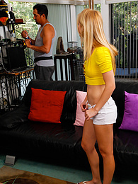 Blonde teen Anastasia Knight gets her tight pussy fucked by the electrician pictures at find-best-babes.com