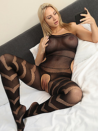 Nathaly Cherie is wearing a crotchless full body stocking pictures at dailyadult.info