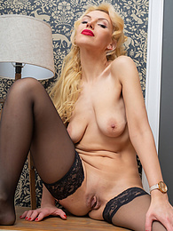 Stunning MILF Milena naked in only her black stockings pictures at find-best-pussy.com