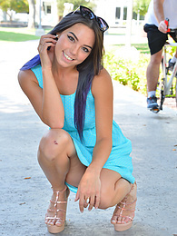 Sexy In Her Blue Dress pictures at freekilosex.com