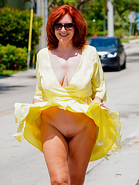 Redhead In Yellow pictures at freekilosex.com
